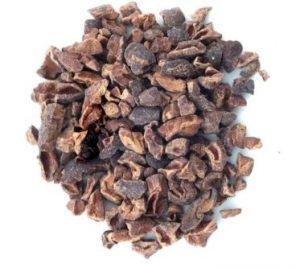 This image has an empty alt attribute; its file name is Cacao-nibs-300x268.jpg